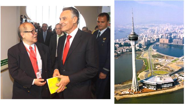 O professor Ming Chan e o presidente da República Portuguesa, Cavaco Silva, concordam que Macau pode ser centro irradiador da Língua Portuguesa para a Ásia.