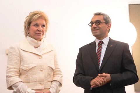A ministra da Cultura do Brasil, Marta Suplicy, em visita a Portugal em junho de 2013, ao lado do secretário da Cultura de Portugal, Jorge Barreto Xavier.