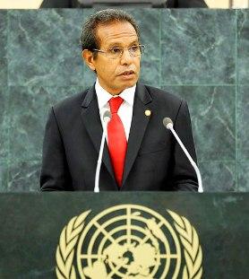 """Taur Matan Ruak: """"O português veio para ficar"""", e com a Língua e uma """"ligação histórica e cultural"""" do país com a CPLP, """"Timor vai continuar a fazer a diferença""""."""