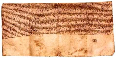O marco inicial apontado como a origem escrita da Língua Portuguesa é a elaboração do testamento do rei D. Afonso II, datado de 1214.