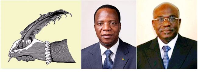 """Os ministros da Educação de Moçambique, Augusto Jone, e de Angola, Pinda Simão, defendem respeito às """"especificidades"""" linguísticas para a ratificação do Acordo Ortográfico de 1990."""
