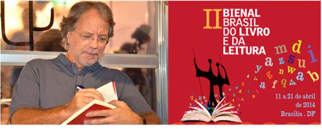 """Mia Couto na II Bienal Brasil do Livro e da Leitura, em Brasília. """"É estranho que em um período de ditadura houvesse uma maior circulação de livros do que agora. Alguma coisa precisa ser feita."""""""
