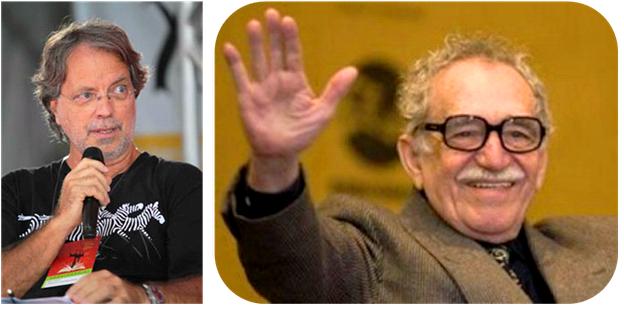 "O escritor Mia Couto homenageou o colombiano Gabriel García Márquez (1927-2014), vencedor do Prêmio Nobel de Literatura de 1982: ""A vida dele está na obra."""