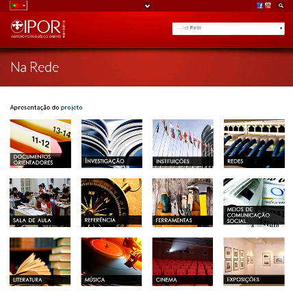 Página principal do sítio da Árvore de Recursos da Língua Portuguesa, desenvolvido pelo Instituto Português do Oriente, de Macau, China.