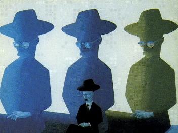 Fernando Pessoa e os Heterónimos (1978), pintura de Costa Pinheiro – um poeta que se desdobrou em várias personalidades: um feito singular na literatura universal.