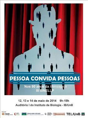 Cartaz da conferência sobre Fernando Pessoa na Universidade de Brasília.
