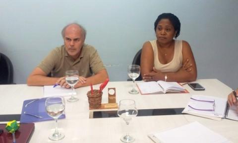Os representantes da Reitoria Francesa nas Guianas, professores Stéphane Granger e Aline Malacarnet.