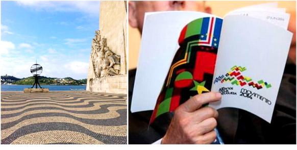 """No Padrão dos Descobrimentos em Lisboa, houve a leitura de 16 poemas de autores dos oito países membros da CPLP: homenagem à """"Língua do mar""""."""