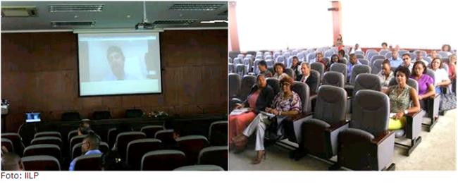 Professores e membros do Governo de Cabo Verde assistiram à videoconferência do IILP de apresentação dos projetos de gestão conjunta da Língua Portuguesa.