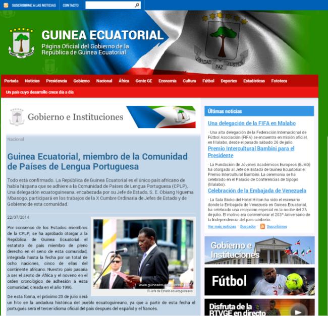 O Governo da Guiné Equatorial anunciou o ingresso do país na CPLP em diversas línguas – mas ainda não tem canal oficial em Língua Portuguesa.