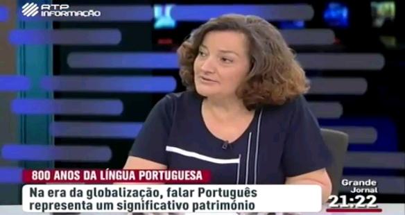 """A linguista e presidente do ILTEC, Margarita Correia: """"Em função da promoção da Língua nas organizações internacionais, é pertinente que ela tenha uma única norma ortográfica."""""""